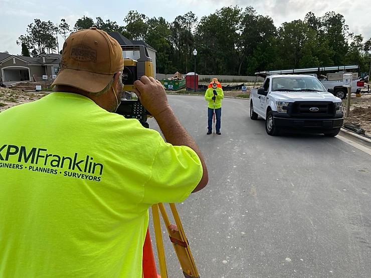 KPM Franklin Survey Crew on the Job in Southeast Orlando